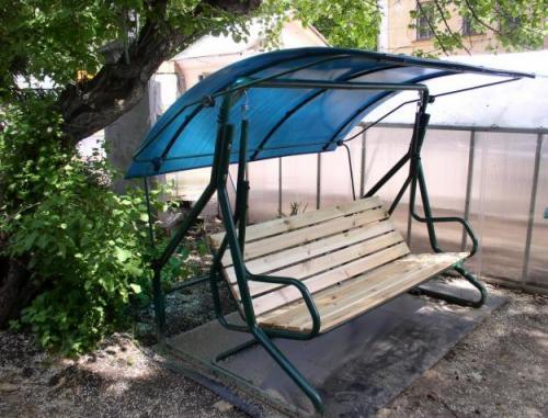 Навес на садовые качели