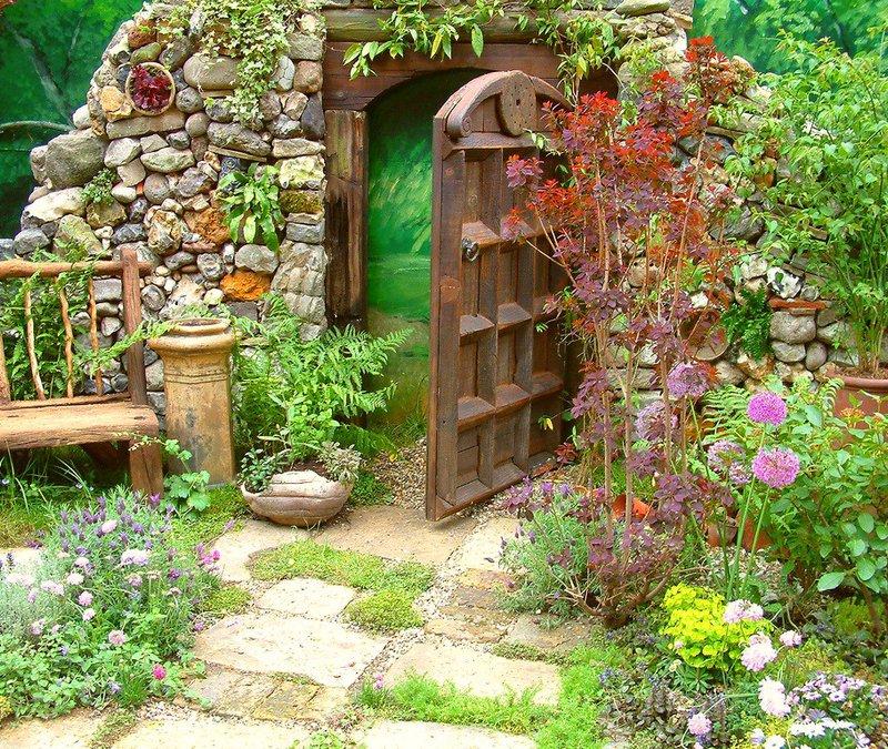 Фото оформления сада своими руками