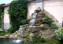 Устройство водопада на садовом участке