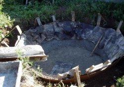 Строительство бетонного пруда