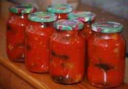 Баклажаны печеные в томатном соке